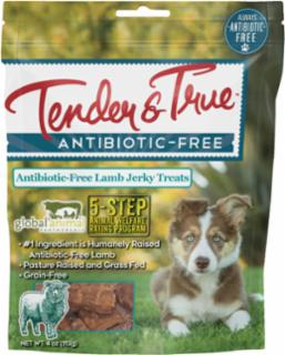 Tender & True Antibiotic Free Lamb Jerky Treat 10/4oz