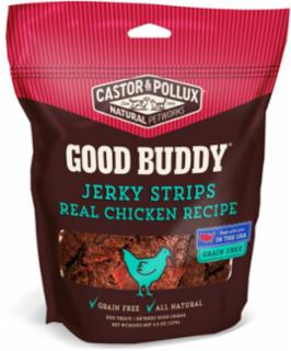 Castor & Pollux Good Buddy Jerky Strips Real Chicken Recipe 4.5Z