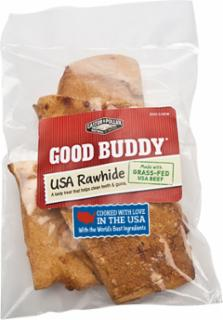 Castor & Pollux Good Buddy 4 oz USA Rawhide Chips with Natural Chicken Flavor