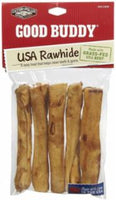 "Castor & Pollux Good Buddy USA Rawhide Sticks with Natural Chicken Flavor 5"" 5pk"