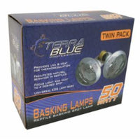 TerraBlue Basking Spot Lamp 50w Twin Pack