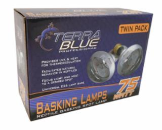 TerraBlue Basking Spot Lamp 75w Twin Pack