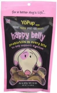 Yoghund Yopup Happy Belly Yogurt Drizzled Wheat Free Biscuits 7z