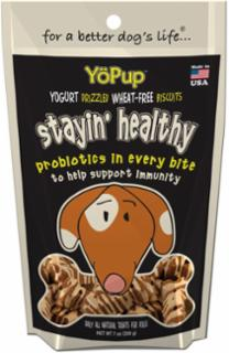 Yoghund Yopup Stayin Healthy Yogurt Drizzled Wheat Free Biscuits  7z
