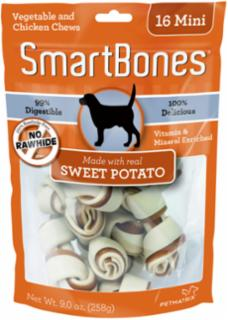SmartBones Sweet Potato Mini 16 Pk.