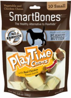 SmartBones PlayTime Chews Peanut Butter Small 10 Pk
