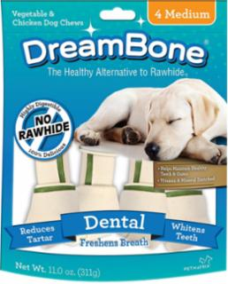 Dreambone Dental Dog Chew Medium 4pck