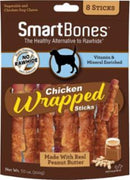 SmartBones Chicken Wrap Sticks Peanut Butter 8 Pk