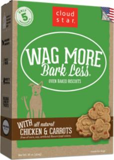 Wag More Bark Less Original Oven Baked Treats with Chicken and Carrots  16Z