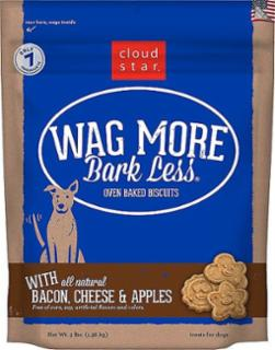Wag More Bark Less Original Oven Baked Treats with Bacon, Cheese and Apples  3#
