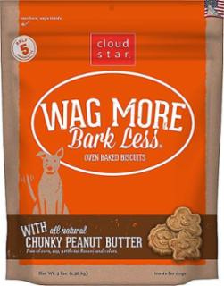 Wag More Bark Less Original Oven Baked Treats with Crunchy Peanut Butter  3#