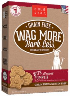Wag More Bark Less Grain Free Oven Baked Treats with Pumpkin  14Z