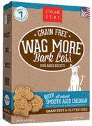 Wag More Bark Less Grain Free Oven Baked Treats with Smooth Aged Cheddar  14Z