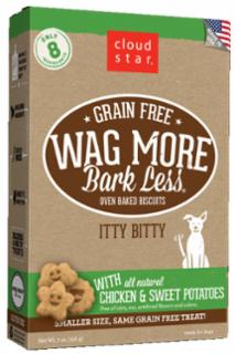 Wag More Bark Less Grain Free  Itty Bitty Oven Baked Treats with Chicken and Sweet Potatoes 7Z