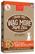 Wag More Bark Less Grain Free  Itty Bitty Oven Baked Treats with Peanut Butter and Apples 7Z