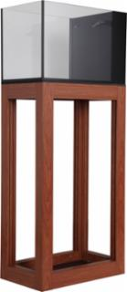Innovative Marine Nuvo 14gal Peninsula Open Aluminum Profile Stand Wood Finish