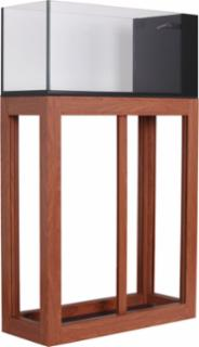 Innovative Marine Nuvo 20gal Peninsula Open Aluminum Profile Stand Wood Finish
