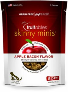 Fruitables Skinny Minis Dog Treats Apple/Bacon 12/5 oz.