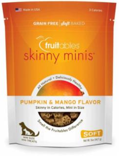 Fruitables Skinny Minis Dog Treats Pumpkin & Mango 12/5 oz.