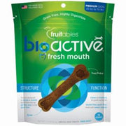 Fruitables BioActive Fresh Mouth Dental Chews Small 15 ct Pouch 7.3Z C=8
