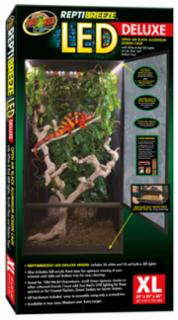 "Zoo Med  ReptiBreeze LED Deluxe Screen Cage (24""x24""x48"") XL"