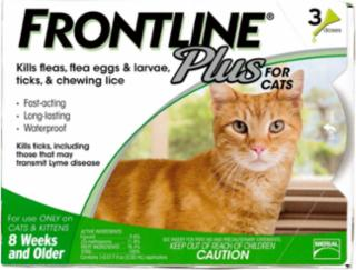 Frontline Plus Flea And Tick Treatment For Cats 3 Month Supply