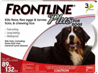 Frontline Plus Flea And Tick Treatment For Dogs 89+ Pounds 3 Month Supply