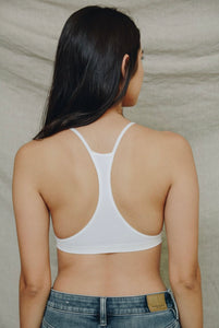Seamless Lace Up Racer Back Bralette