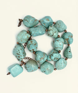 Blue Turquoise Chunky Necklace