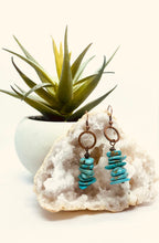 Load image into Gallery viewer, Blue Turquoise Staked Earring