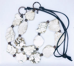 White Slab Necklace