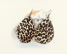 Load image into Gallery viewer, Leather Earrings in Hair on Hide Mini Leopard