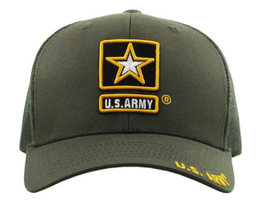 US Army Hat Mesh Back