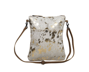 Speckled Leather Crossbody Bag