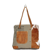 Load image into Gallery viewer, Leather Pocketed Tote Bag
