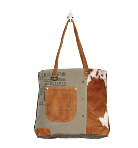 Leather Pocketed Tote Bag