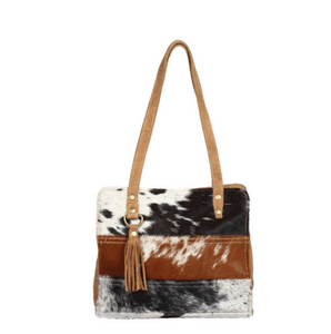 Stria Hair-on Crossbody Bag