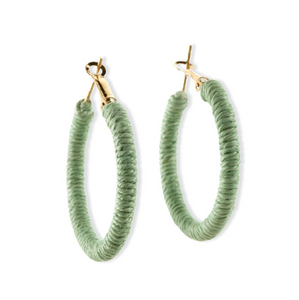 Lime Joy Hoop Earring