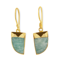 Load image into Gallery viewer, Amazonite Drop Earrings