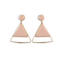 Load image into Gallery viewer, Dainty Pink Triangle Earrings