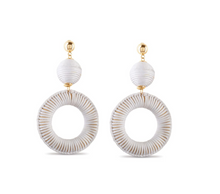 Load image into Gallery viewer, Sandy White Beaches Earrings