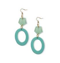 Load image into Gallery viewer, Green Dream Drop Earrings