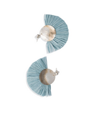 Load image into Gallery viewer, Baby Blue Pearl Earrings