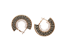 Load image into Gallery viewer, Zebra Hoop Earrings