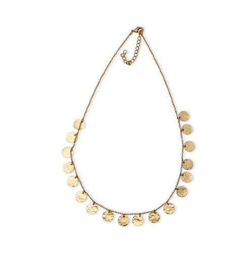 Coined Dainty Necklace