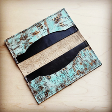 Load image into Gallery viewer, Turquoise Metallic Wallet