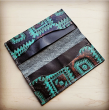 Load image into Gallery viewer, Turquoise Aztec Wallet