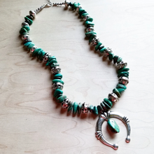 Load image into Gallery viewer, Turquoise Squash Blossom Necklace