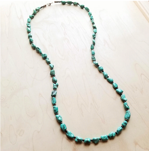 Beaded Turquoise Love Necklace