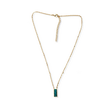 Load image into Gallery viewer, Green Vogue Pendant Necklace